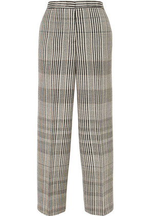 Jil Sander - Checked Wool-blend Pants - Gray