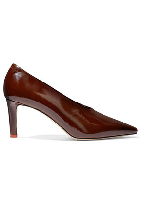 aeyde - River Patent-leather Pumps - Chocolate