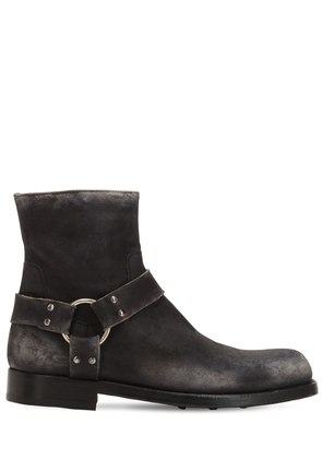 ASHER 006 DISTRESSED LEATHER BOOTS