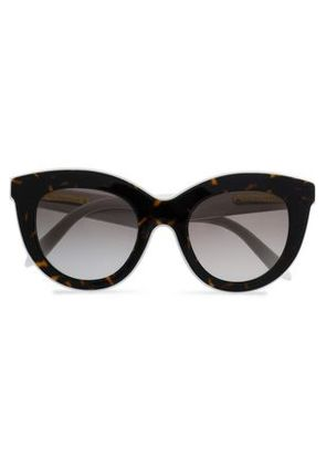 Victoria Beckham Woman Cat-eye Tortoiseshell Acetate Sunglasses Dark Brown Size -
