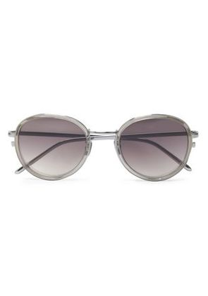 Linda Farrow Woman Round-frame Acetate Sunglasses Gray Size -