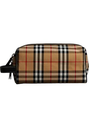 Leather Beautycase And Check Motif