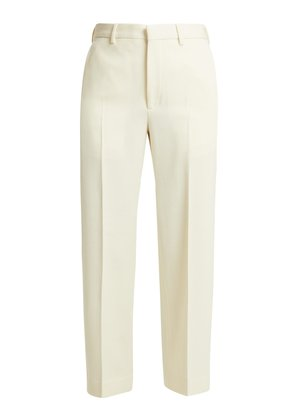 Flood-crop wool-twill tailored trousers