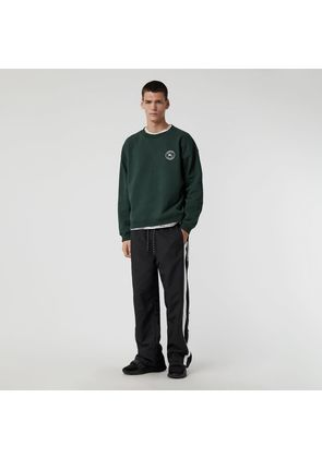 Burberry Embroidered Logo Jersey Sweatshirt, Green