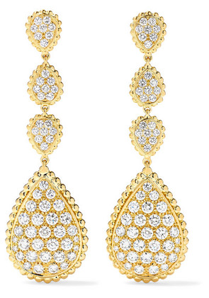 Boucheron - Serpent Bohème 18-karat Gold Diamond Earrings - one size
