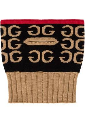 Gucci ribbed neck warmer - Brown