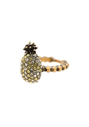 Gucci Crystal Pineapple Ring - Metallic