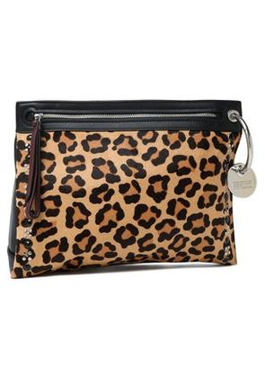 Marc By Marc Jacobs Woman Embellished Leopard-print Calf Hair And Leather Pouch Animal Print Size -