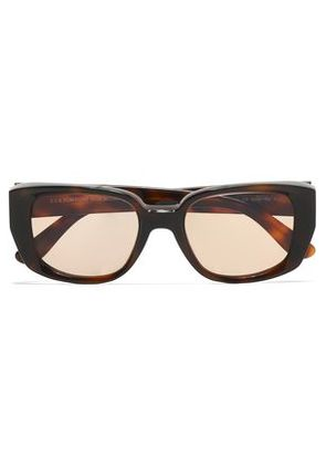 Tom Ford Woman D-frame Tortoiseshell Acetate Sunglasses Dark Brown Size -