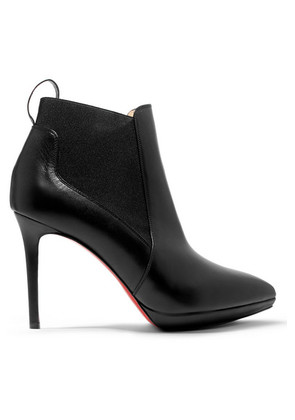 Christian Louboutin - Crochinetta 100 Leather Ankle Boots - Black