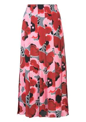 Gucci Poppies silk skirt - Pink