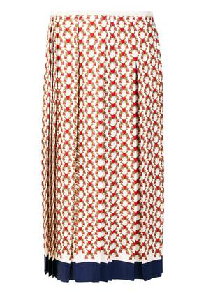 Gucci heart print pleated skirt - Multicolour