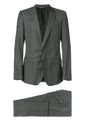 Dolce & Gabbana striped two-piece suit - Grey