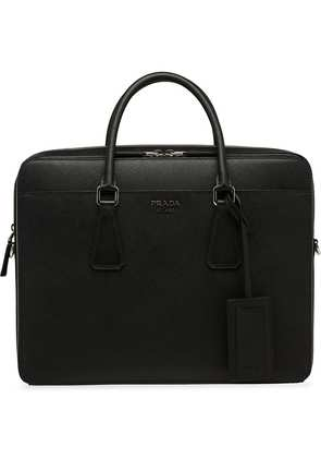Prada saffiano briefcase - Black