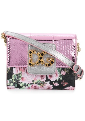 Dolce & Gabbana DG Millenials floral shoulder bag - Pink & Purple