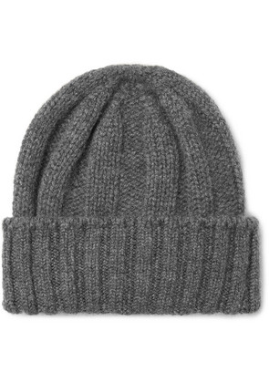Beams Plus - Ribbed Cashmere Beanie - Gray