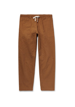 Active Lazy Cotton-canvas Drawstring Trousers