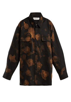 Bleached cotton overshirt