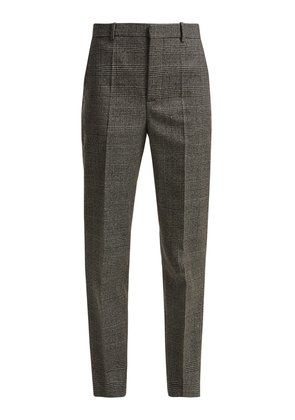 Prince of Wales-check wool trousers