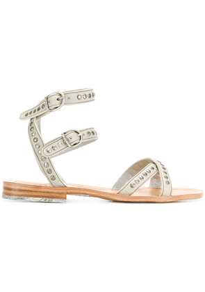 Fiorentini + Baker double strap studded sandals - Grey