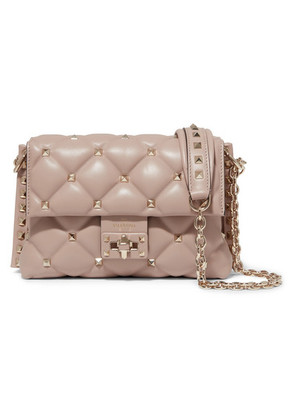 Valentino - Valentino Garavani Candystud Medium Quilted Leather Shoulder Bag - Pink