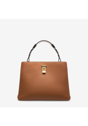 Bally Lucyle Brown, Women's calf leather shoulder bag in tan