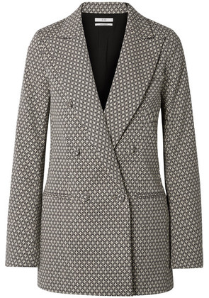 Co - Double-breasted Cotton-blend Jacquard Blazer - Black