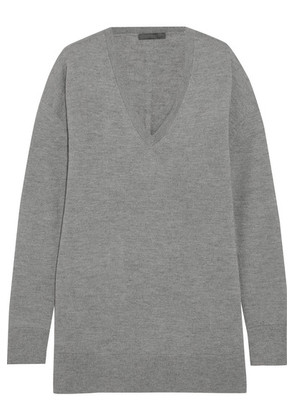 The Row - Amherst Cashmere And Silk-blend Sweater - Gray