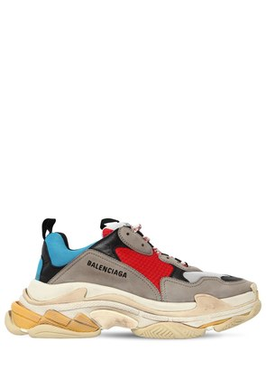 MASH AND LEATHER TRIPLE S SNEAKER