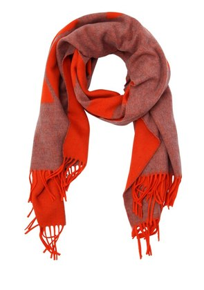 CLASSIC WOOL GRAPHIC SCARF