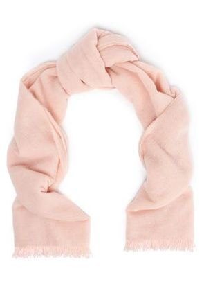 Brunello Cucinelli Woman Frayed Cashmere Scarf Pastel Pink Size -