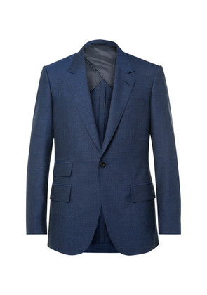 Eggsy's Blue Wool, Silk, Mohair And Linen-blend Suit Jacket