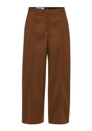 Jil Sander Farran Wide Leg Fleece Wool Pants