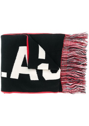 Puma fringed knit scarf - Black
