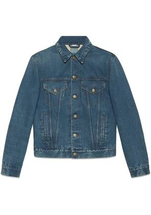 Gucci Denim jacket with embroideries - Blue