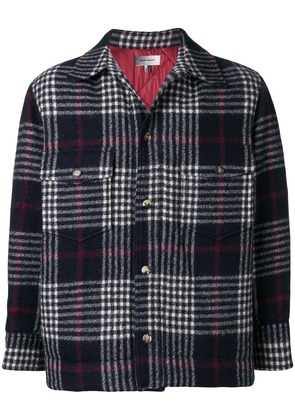 Isabel Marant oversized plaid shirt jacket - Blue