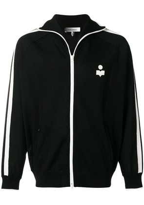 Isabel Marant zip front logo sports jacket - Black