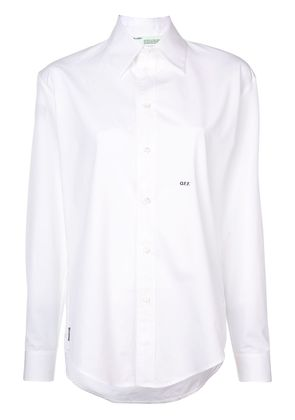 Off-White logo embroidered shirt