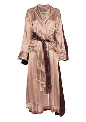 Y / Project Two tone double layer robe - Pink & Purple