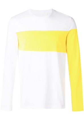 Helmut Lang long coloured arms T-shirt - White