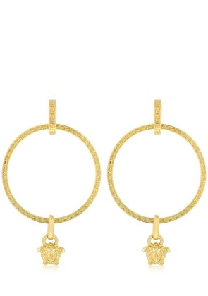 BIG HOOPS MEDUSA CHARM EARRINGS