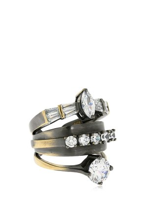 STACKED RING W/ CRYSTALS
