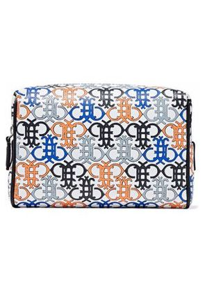 Emilio Pucci Woman Printed Textured-leather Cosmetics Case White Size -