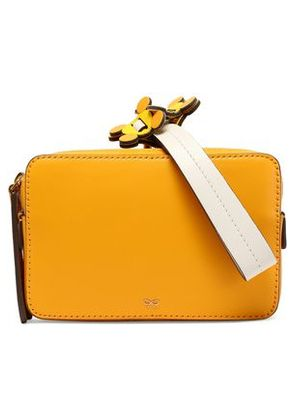 Anya Hindmarch Woman Color-block Leather Clutch Orange Size -