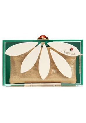 Charlotte Olympia Woman Embellished Perspex Box Clutch Off-white Size -
