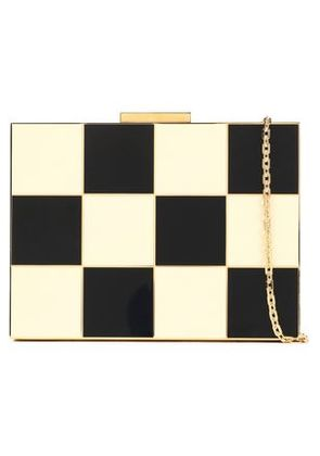 Valentino Woman Gingham Mini Clutch Ivory Size -