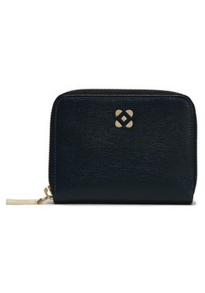Oscar De La Renta Woman Leather Wallet Navy Size -