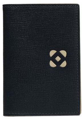 Oscar De La Renta Woman Leather Cardholder Navy Size -
