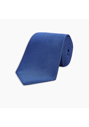 Navy and Royal Blue Houndstooth Silk Tie