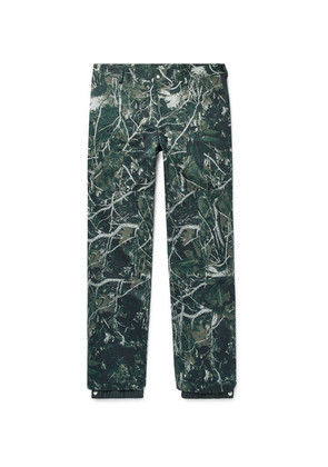 Tapered Camouflage-print Cotton-twill Trousers